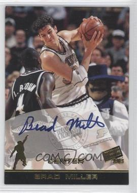 1998 Press Pass Autographs #BRMI - Brad Miller