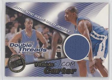 1998 Press Pass Double Threat - Double Threads #DT 4 - Vince Carter, Glen Rice /425