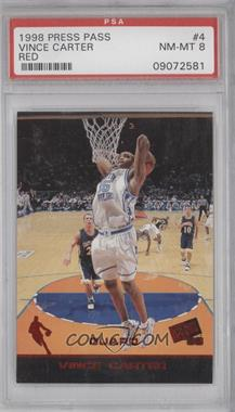 1998 Press Pass Solos #R4 - Vince Carter /1 [PSA 8]