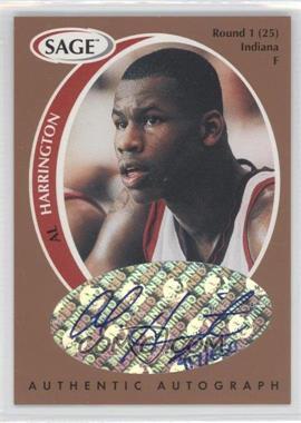 1998 SAGE - Authentic Autograph - Bronze #A18 - Al Harrington /650