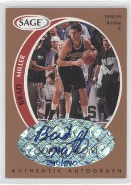 1998 SAGE - Authentic Autograph - Bronze #A32 - Brad Miller /570