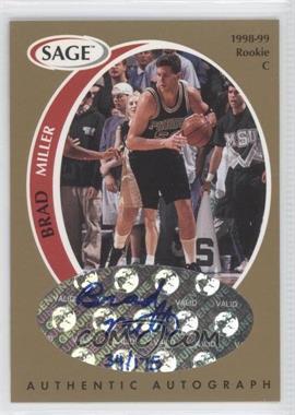 1998 SAGE - Authentic Autograph - Gold #A32 - Brad Miller /175