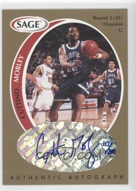 1998 SAGE - Authentic Autograph - Gold #A33 - Cuttino Mobley /200