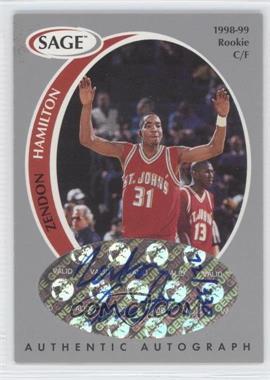 1998 SAGE - Authentic Autograph - Silver #A16 - Zendon Hamilton /330