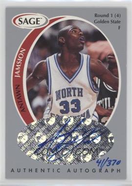 1998 SAGE - Authentic Autograph - Silver #A20 - Antawn Jamison /370