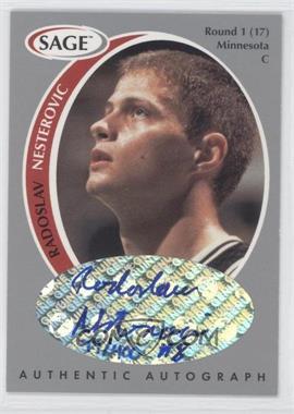 1998 SAGE - Authentic Autograph - Silver #A36 - Rasho Nesterovic /400