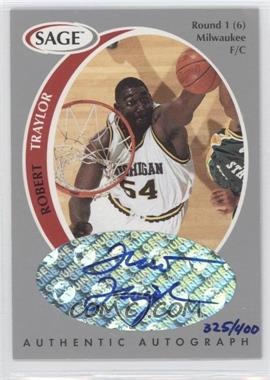 1998 SAGE - Authentic Autograph - Silver #A44 - Robert Traylor /400