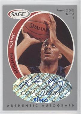 1998 SAGE - Authentic Autograph - Silver #A50 - Korleone Young /400