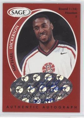 1998 SAGE - Authentic Autograph #A11 - Michael Dickerson /999