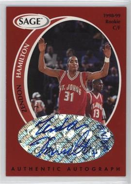 1998 SAGE - Authentic Autograph #A16 - Zendon Hamilton /825