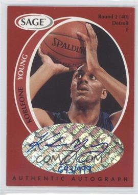 1998 SAGE - Authentic Autograph #A50 - Korleone Young /999