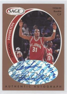 1998 SAGE Authentic Autograph Bronze #A16 - Zendon Hamilton