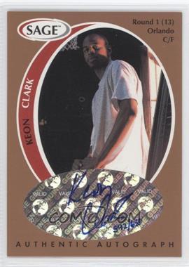 1998 SAGE Authentic Autograph Bronze #A9 - Keith Closs /650