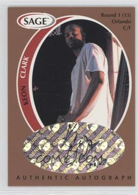 1998 SAGE Authentic Autograph Bronze #A9 - Keon Clark /650