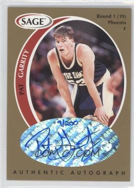 1998 SAGE Authentic Autograph Gold #A15 - Pat Garrity /200
