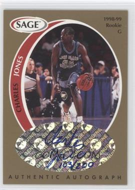 1998 SAGE Authentic Autograph Gold #A22 - Charles Jones /200