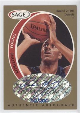 1998 SAGE Authentic Autograph Gold #A50 - Korleone Young /200