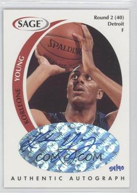 1998 SAGE Authentic Autograph Master Edition #A50 - Korleone Young /90