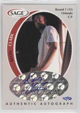 1998 SAGE Authentic Autograph Platinum #A9 - Keith Closs /50