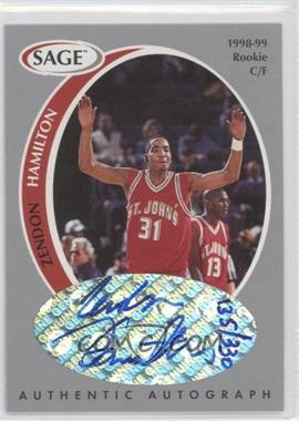 1998 SAGE Authentic Autograph Silver #A16 - Zendon Hamilton /330