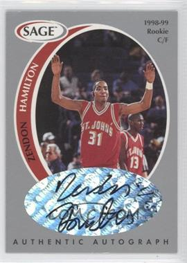 1998 SAGE Authentic Autograph Silver #A16 - Zendon Hamilton