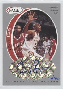 1998 SAGE Authentic Autograph Silver #A25 - Corey Louis /390