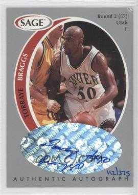 1998 SAGE Authentic Autograph Silver #A4 - Torraye Braggs /375