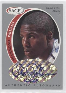 1998 SAGE Authentic Autograph Silver #A49 - Shammond Williams /265