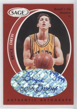 1998 SAGE Authentic Autograph #A13 - Bryce Drew /999