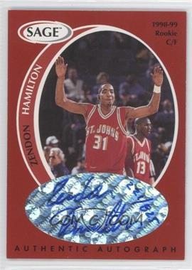 1998 SAGE Authentic Autograph #A16 - Zendon Hamilton /825