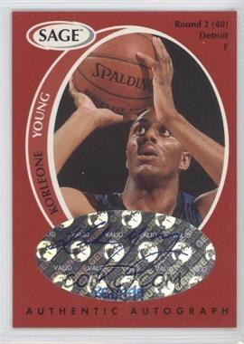 1998 SAGE Authentic Autograph #A50 - Korleone Young /999