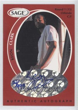 1998 SAGE Authentic Autograph #A9 - Keith Closs /999