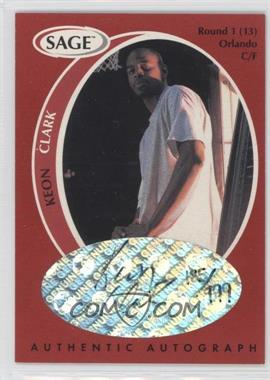 1998 SAGE Authentic Autograph #A9 - Keon Clark /999