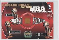 Chicago Bulls Six-Time NBA Champions Authentic Floor /1998