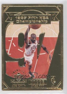 1998 Upper Deck Collectibles Michael Jordan 22K Career Highlights #12 - Michael Jordan /23000