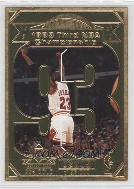 1998 Upper Deck Collectibles Michael Jordan 22K Career Highlights #9 - Michael Jordan /23000