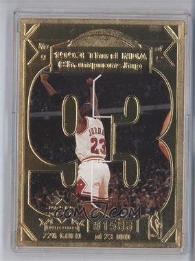 1998 Upper Deck Collectibles Michael Jordan 22K #9 - Michael Jordan /23000