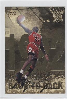 1998 Upper Deck Gatorade Michael Jordan #8 - Back-To-Back (1992)