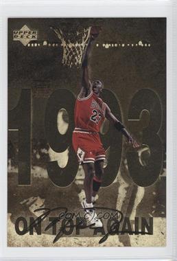 1998 Upper Deck Gatorade Michael Jordan #9 - On Top a Gain (1993)