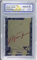 Michael Jordan (Marble Border, Red Signature) [ENCASED]