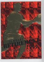 Michael Jordan (Red Foil Background, Retirement Overstrike) /9923