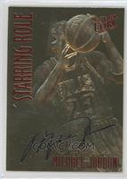 Michael Jordan (Red Foil, Black Signature)