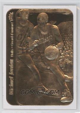 1999-00 23KT Gold Card Fleer Reprints Rookies #J86S.1 - Michael Jordan 1986-87 Sticker (White Border)