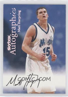 1999-00 Skybox Premium Autographics [Autographed] #MAHA - Matt Harpring