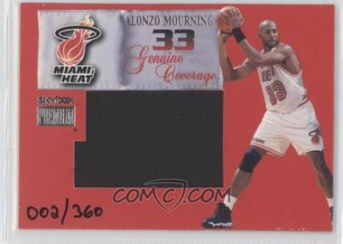 1999-00 Skybox Premium Genuine Coverage Jerseys #3GC - Alonzo Mourning /360