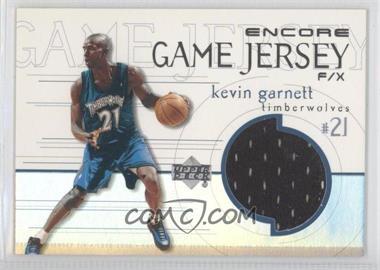 1999-00 Upper Deck Encore Game Jersey F/X #KG-J - Kevin Garnett