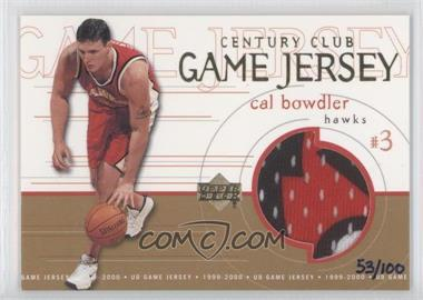 1999-00 Upper Deck Game Jersey Century Club #GJ48 - Cal Bowdler /100