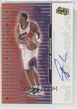 1999-00 Upper Deck Ionix - UD Authentics - [Autographed] #SM - Shawn Marion