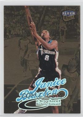 1999 Fleer Ultra WNBA Gold Medallion Edition #43G - Janice Braxton