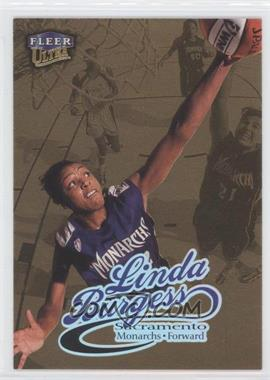 1999 Fleer Ultra WNBA Gold Medallion Edition #72G - Linda Burgess